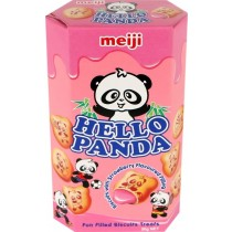 Meiji - Hello Panda Strawberry Flavoured  Biscuit