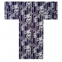 Mens Yukata - Bamboo & Dragon - Navy