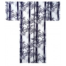 Ladies Yukata - Bamboo - White