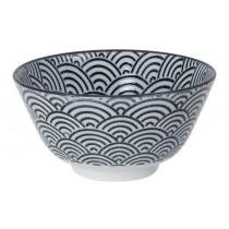 Nippon Black Rice Bowl 12x6.4cm 300ml Wave