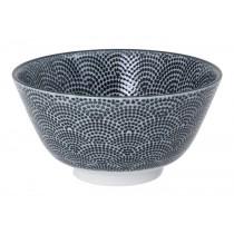 Nippon Black Rice Bowl 12.6x6.4cm Dots