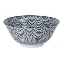 Nippon Black Tayo Bowl 15.2x6.7cm 500ml Wave