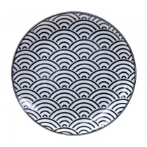 Nippon Black Plate 16x2cm Wave