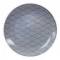Nippon Black Plate 25.7x3cm Wave