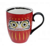Daruma Mug W/Giftbox Large Face 8.5x10.2cm 380ml
