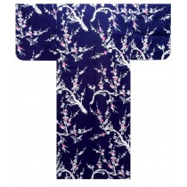 Ladies Yukata - Japanese Plum - Navy