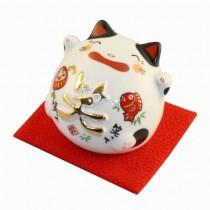 Maneki Neko - Lucky Cat Fat Piggy Box Smile