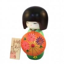Kokeshi Doll - Ameagari Green