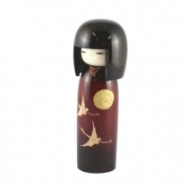 Kokeshi Doll - Evening Crane
