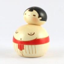 Kokeshi Doll - Sumo Red