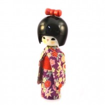 Kokeshi Doll - Hogaraka Purple