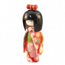 Kokeshi Doll - Osumashi Red