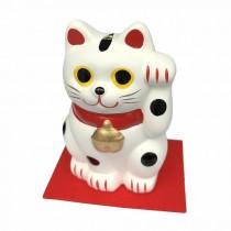 Maneki Neko - White Lucky Cat L