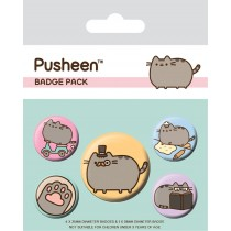 Pusheen - Badge Pack - Fancy