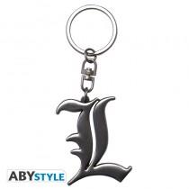 "DEATH NOTE - Keychain 3D ""L Symbol"""