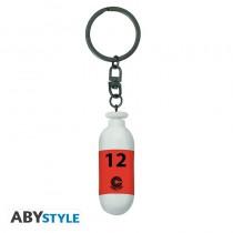 "DRAGON BALL - Keychain 3D ""DBZ/Red Plastic Capsule"""