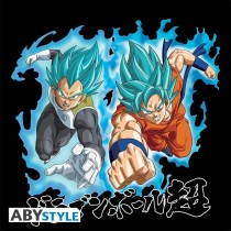 "T-SHIRT DRAGON BALL SUPER - ""Goku & Vegeta SS Blue"" Medium"