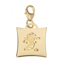 Japanese Kanji Charm - Love - 18KT Gold Plated