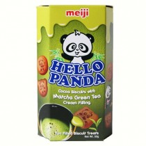 Meiji - Hello Panda Cacao Biscuit Matcha Green Tea  Flavoured