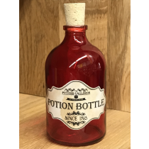 The Potions Cauldron - Red Potion Bottle with Cork
