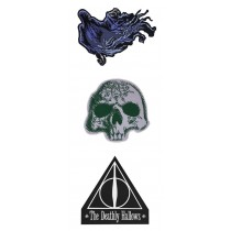 Harry Potter Patches 3-Pack Deluxe Deathly Hallows