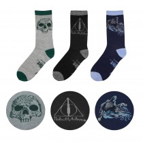 Harry Potter Socks 3-Pack Deathly Hallows