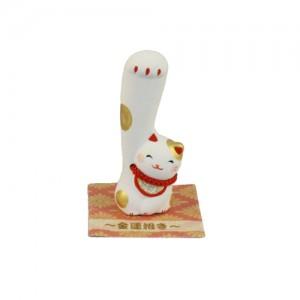 Maneki Neko - Right Long Hand Lucky Cat Gold S