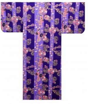 Ladies Yukata - Geisha - Purple