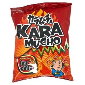 Kara Mucho Spicy & Tasty Hot Chilli Ridge Potato Crisps