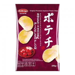 Koikeya Potechi Japanese Potato Chips - Pickled Plum Flavour 100g