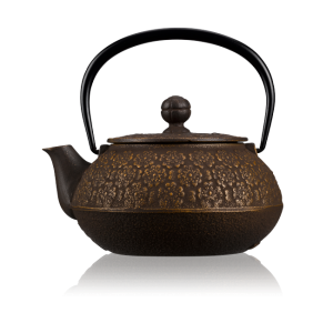 Sakura Gold Brown Cast Iron Teapot 0.55L