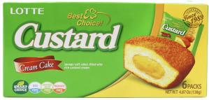 Lotte Custard Pie Cream Cakes (23g*6pcs) 138g