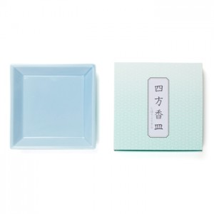 Shoyeido - Square Ceramic Incense Tray - Light Blue