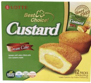 Lotte Custard Pie Cream Cakes (23g*12pcs) 276g