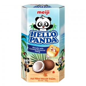 Meiji - Hello Panda Coconut Flavoured Biscuit