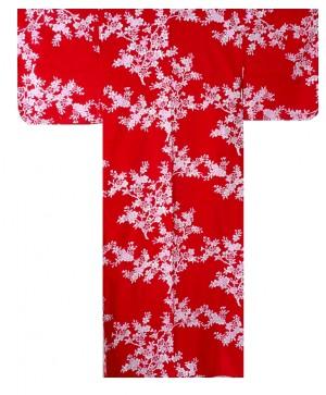 Ladies Yukata - Cherry Blossoms - Red