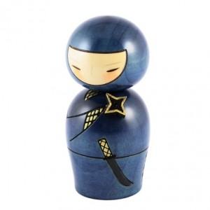 Kokeshi Doll - Ninja Blue