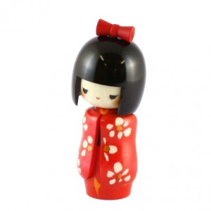 Kokeshi Doll - Long Sleaves Red
