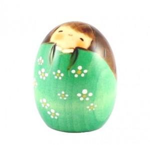 Kokeshi Doll - Happy Green