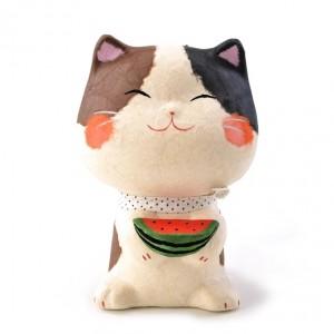 Maneki Neko - Lucky Cat Watermelon S