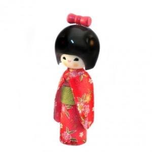 Kokeshi Doll - Hogaraka Red