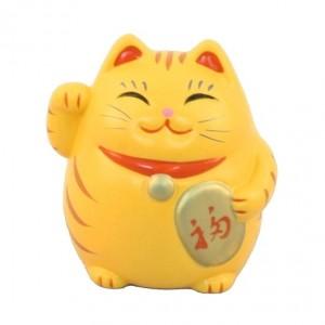 Maneki Neko - Lucky Cat Roly‐Poly Yellow