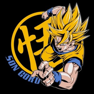 "T-SHIRT DRAGON BALL ""Goku Super Saiyan"" Large"