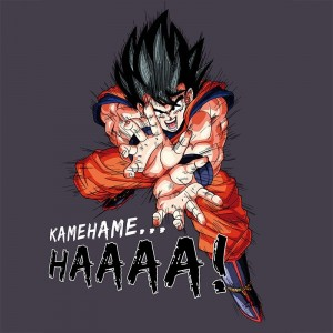 "T-SHIRT DRAGON BALL ""Kamehameha"" Large"