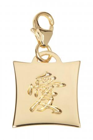 Japanese Kanji Charm - Love - 18KT Gold Plated