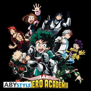"T-SHIRT MY HERO ACADEMIA ""Heroes"" Large"