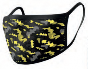 Batman Face Covering Masks Camo Yellow