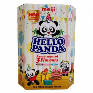 Hello Panda Assorted of 3 Flavoured Biscuit Chocolate, Strawberry & Milk (26g x 10 packets)