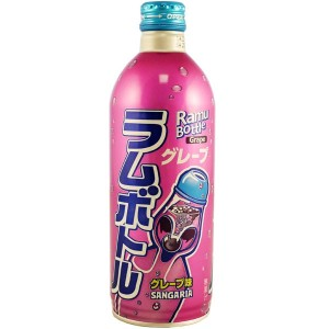 Sangaria Ramu Bottle Grape Ramune Soda 500ml