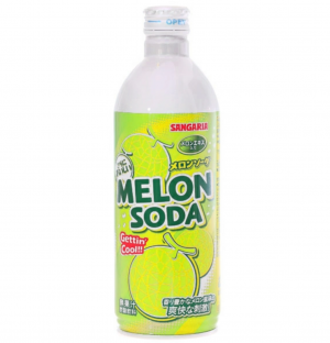 Sangaria Ramu Bottle Melon Ramune Soda 500ml